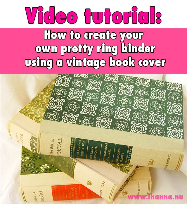 Book Cover Design Your Own ~ Video tutoria by ihanna how to create your own ring