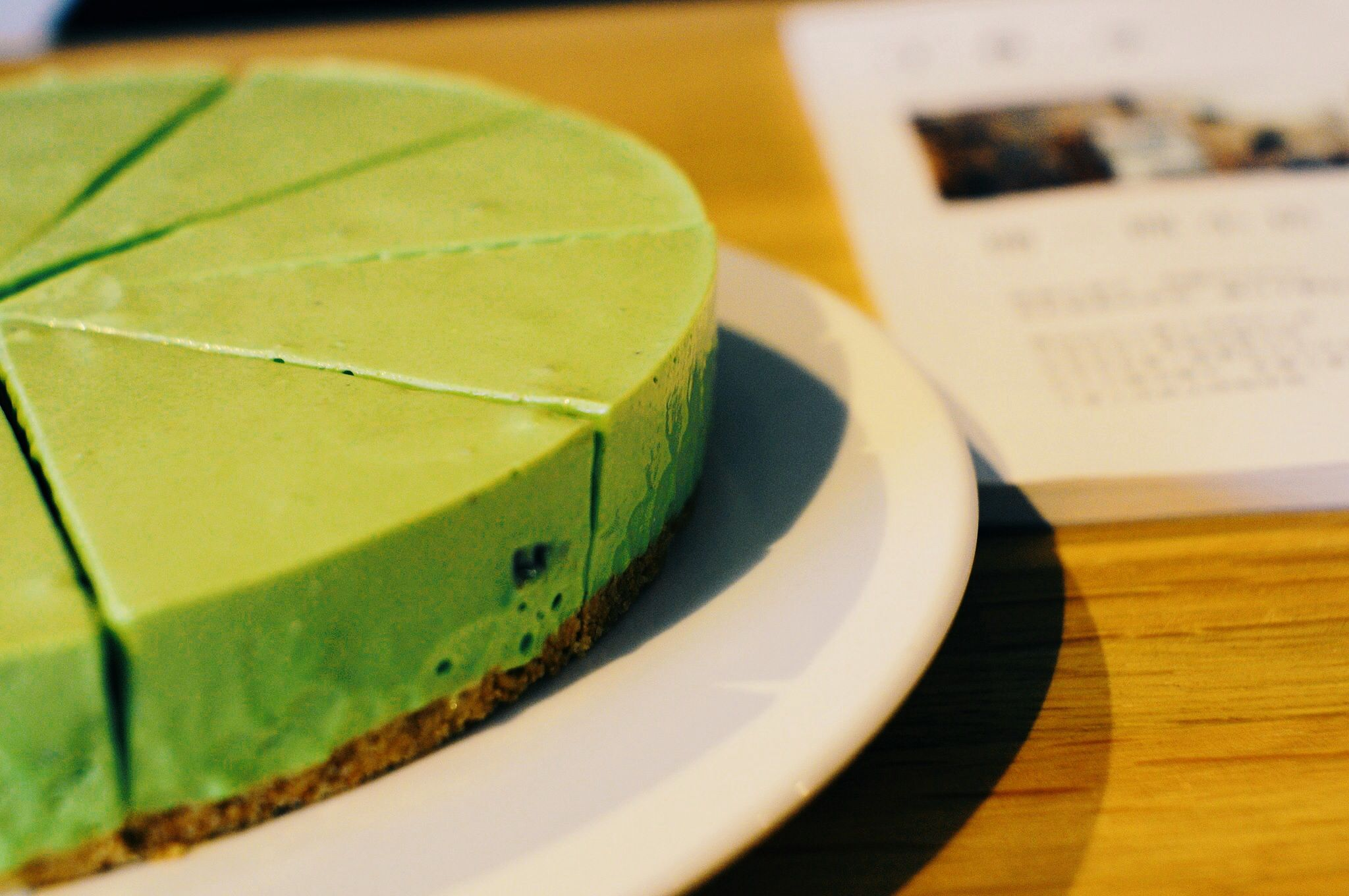 Matcha raw cheesecake - www.facebook.com/imperfectcafe