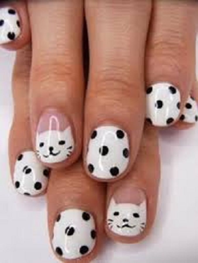 Cute Easy Nail Designs For Short Nails Kitty