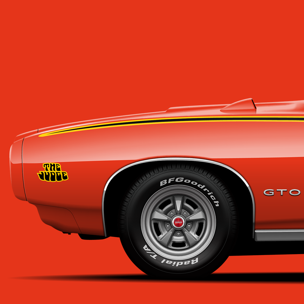 It doesn't get more ferocious and intimidating than Pontiac GTO aka The Judge. Available now in A