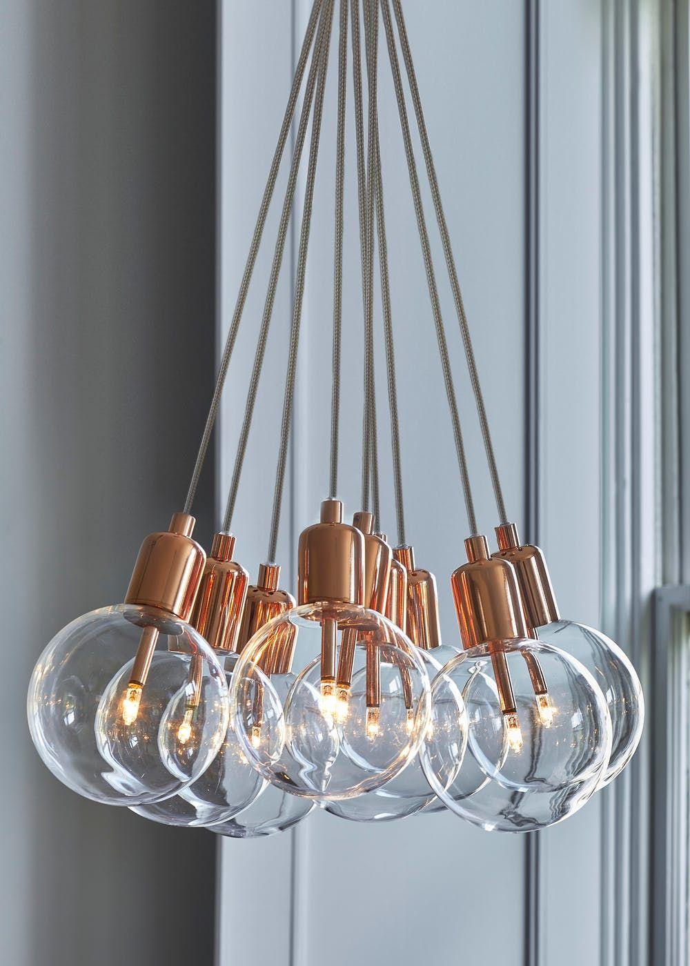 Byron Copper Cluster Light H81cm 51cm X W32cm Copper Cluster Lights Copper Ceiling Lights Bedroom Light Fixtures