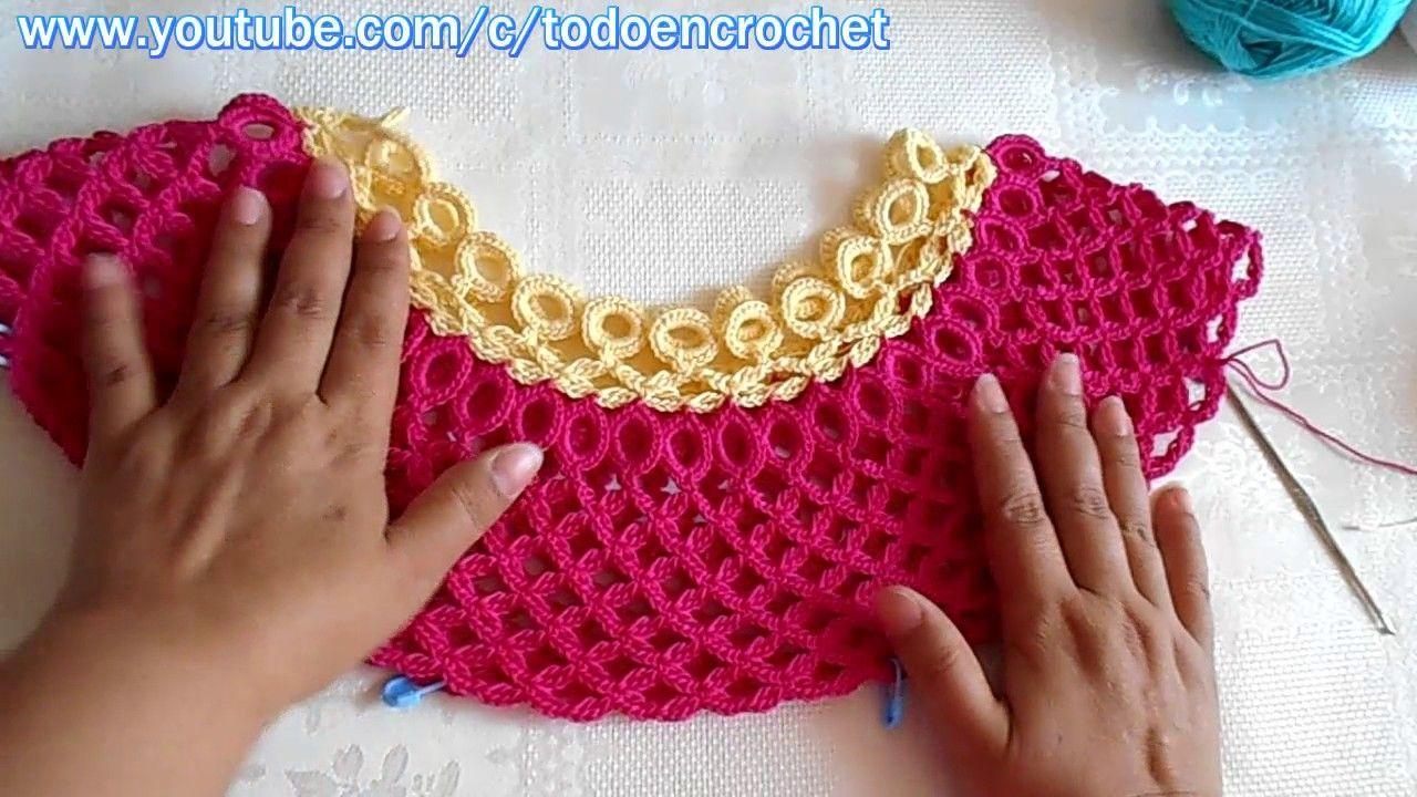Blusa tejida a crochet paso a paso #2