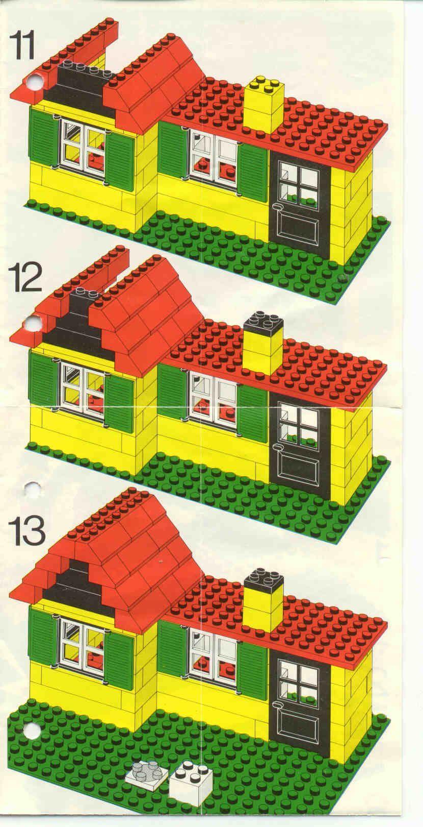 Vieux LEGO® Instructions   letsbuilditagain.com   Maison lego ...