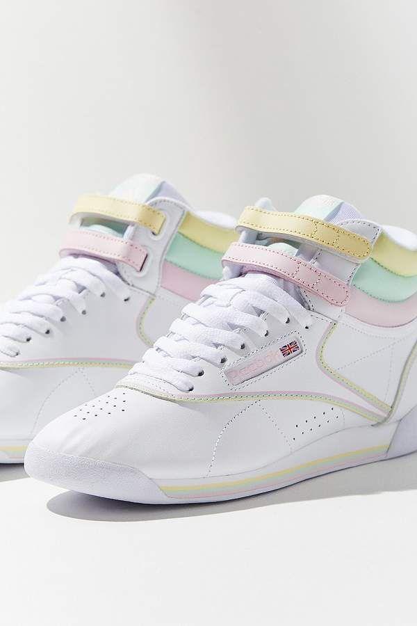 70571e17c16 Reebok X GLOW Freestyle Hi Pastel Sneaker