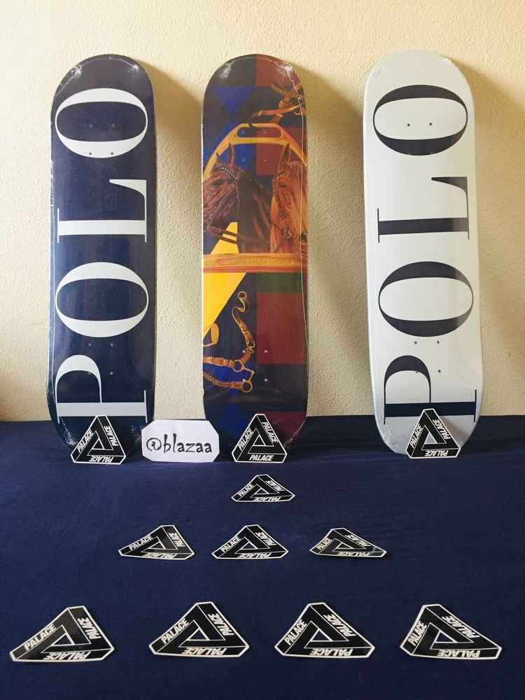ed622d0b2 Palace x Ralph Lauren limited edition Skate board decks set of 3 ...