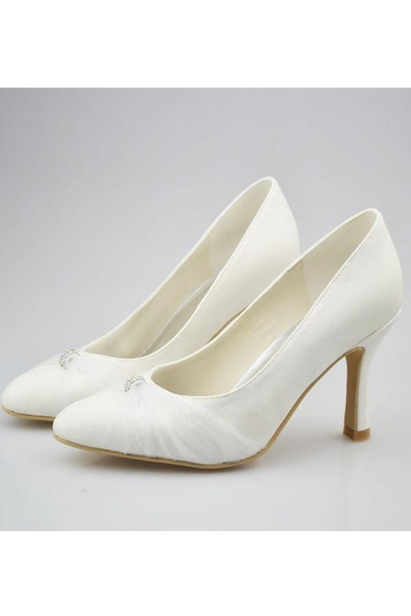 Simple Elegant Handmade Ivory Pointed Toe Cheap Wedding