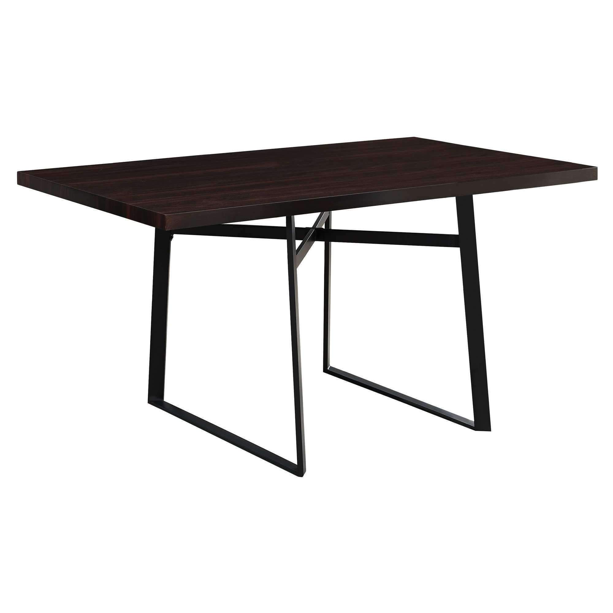 Dining Table 36 X 60 Cappuccino Black Metal Metal Dining