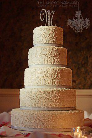 Words Wedding Cake