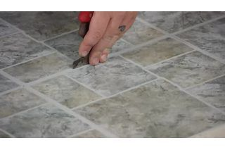 How To Paint Over Peel Stick Tiles Ehow Stick On Tiles Peel And Stick Tile Peel And Stick Floor