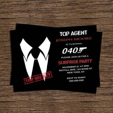 james bond party invitations - Google Search