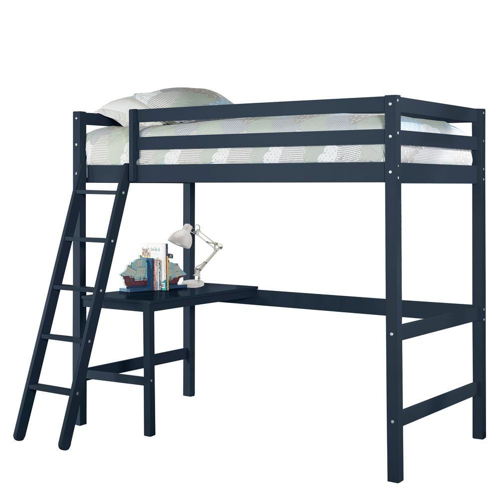 Hillsdale Furniture Caspian Navy Twin Loft Blue In 2020 Loft Bed Hillsdale Furniture Furniture