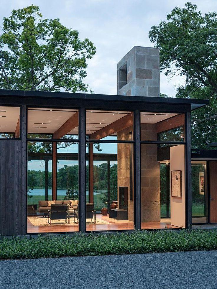 Modern house design woodland house altus architecture - Interior design classes minneapolis ...
