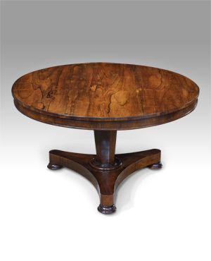 Antique Round Centre Table Perabot Klasik