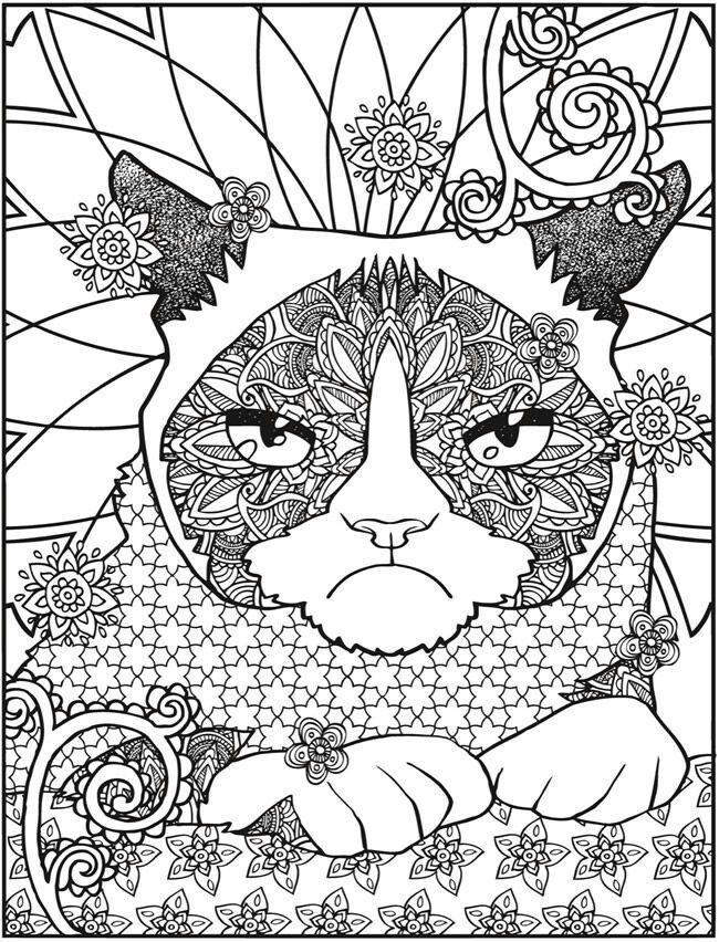 Коты #раскраски #раскраски_для_взрослых #Антистресс #дудл ...