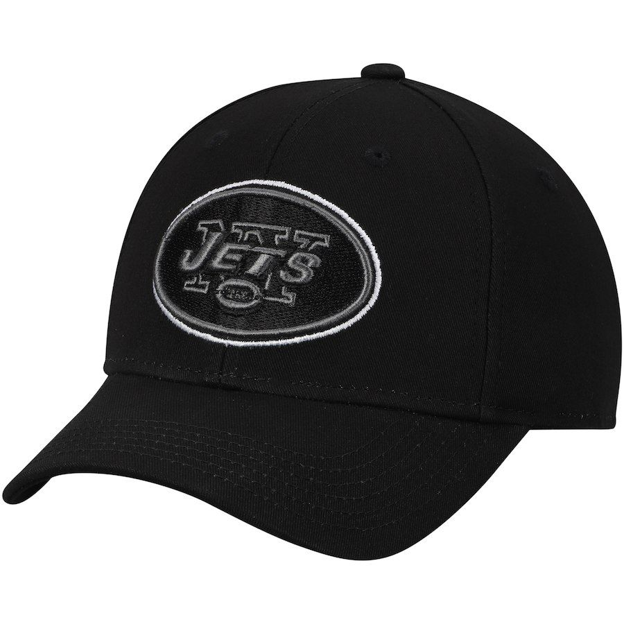 best value 53b01 e3c1e Youth New York Jets Black Black   White Structured Adjustable Hat, Your  Price   15.99