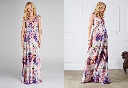 Patron robe longue femme enceinte