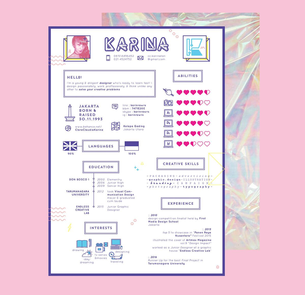 creative cv  cv  cv templates  free cv template  infographic cv  girly cv  pink cv  resume