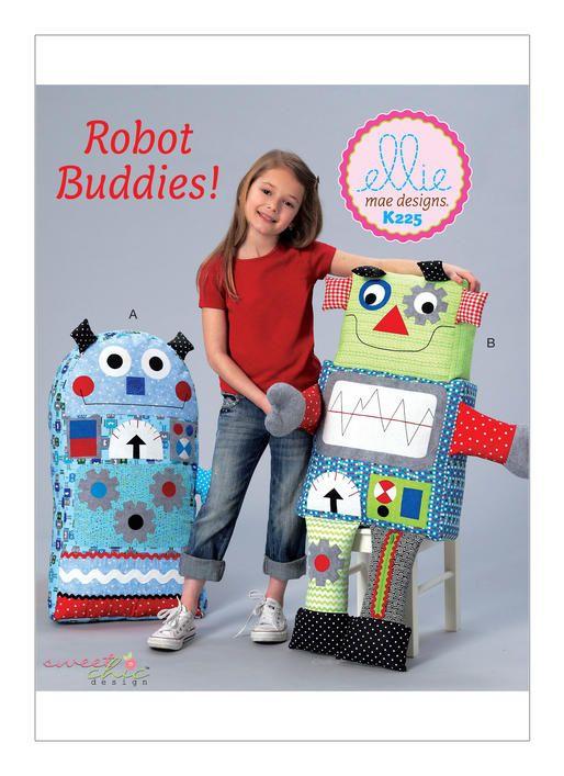 Robot Buddies sewing pattern from Kwik Sew. K0225 | Craft & Apron ...