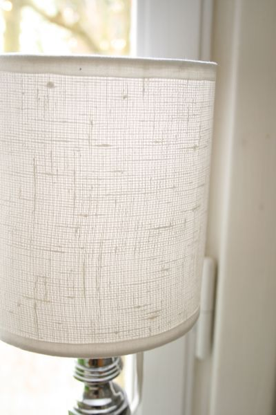 Remake your ugly old lampshade quick and easy chez larsson fix a yellowed lampshade mozeypictures