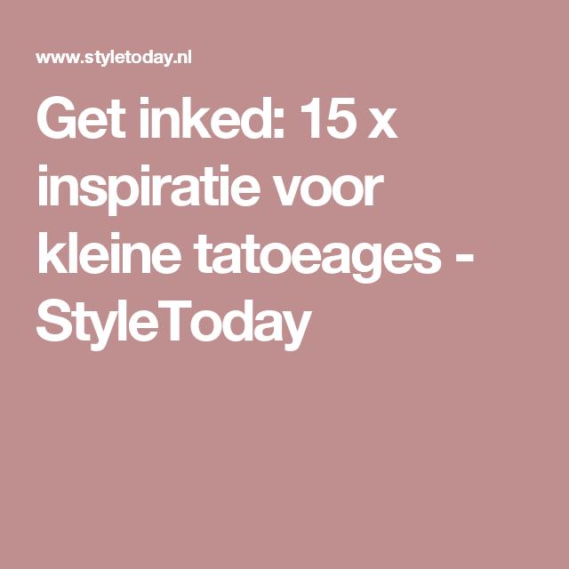 Get inked: 15 x inspiratie voor kleine tatoeages  - StyleToday