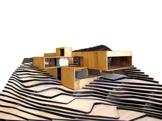 Maqueta de casa moderna