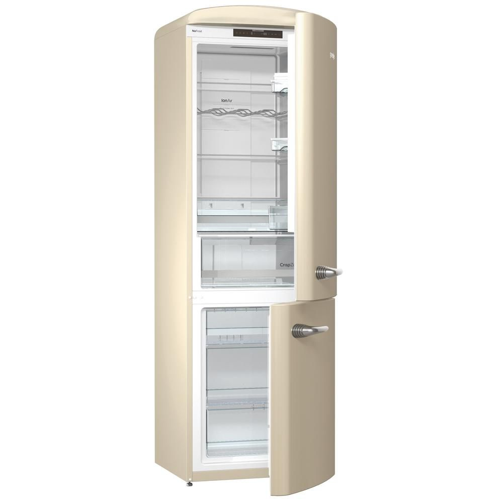 Chambers Retro 24 In 12 Cu Ft Bottom Freezer Refrigerator In Champagne Crbr2412 Cr With Images Bottom Freezer Bottom Freezer Refrigerator Freestanding Fridge
