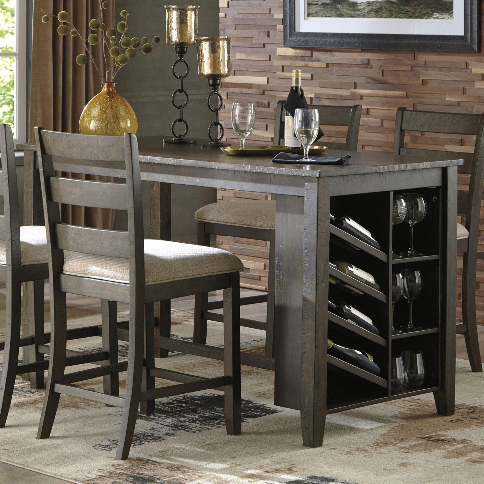 Signature Design By Ashley Rokane Counter Height Dining