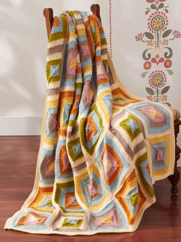 Patchwork Blanket | Yarn | Free Knitting Patterns | Crochet Patterns | Yarnspirations