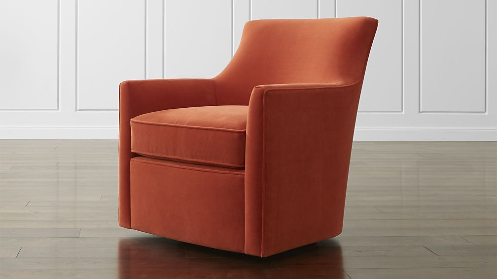 Clara swivel chair crate and barrel even smaller so good