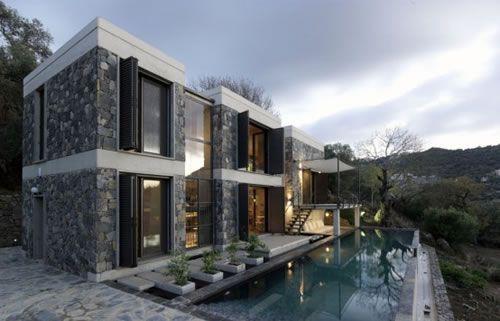 maison-moderne-design-en-pierre   Architecture   Pinterest
