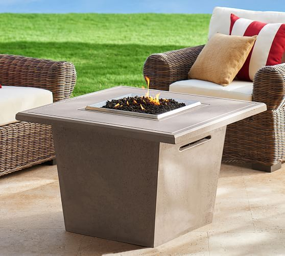 Fire Pit Coffee Table | Pottery Barn | Backyard ...