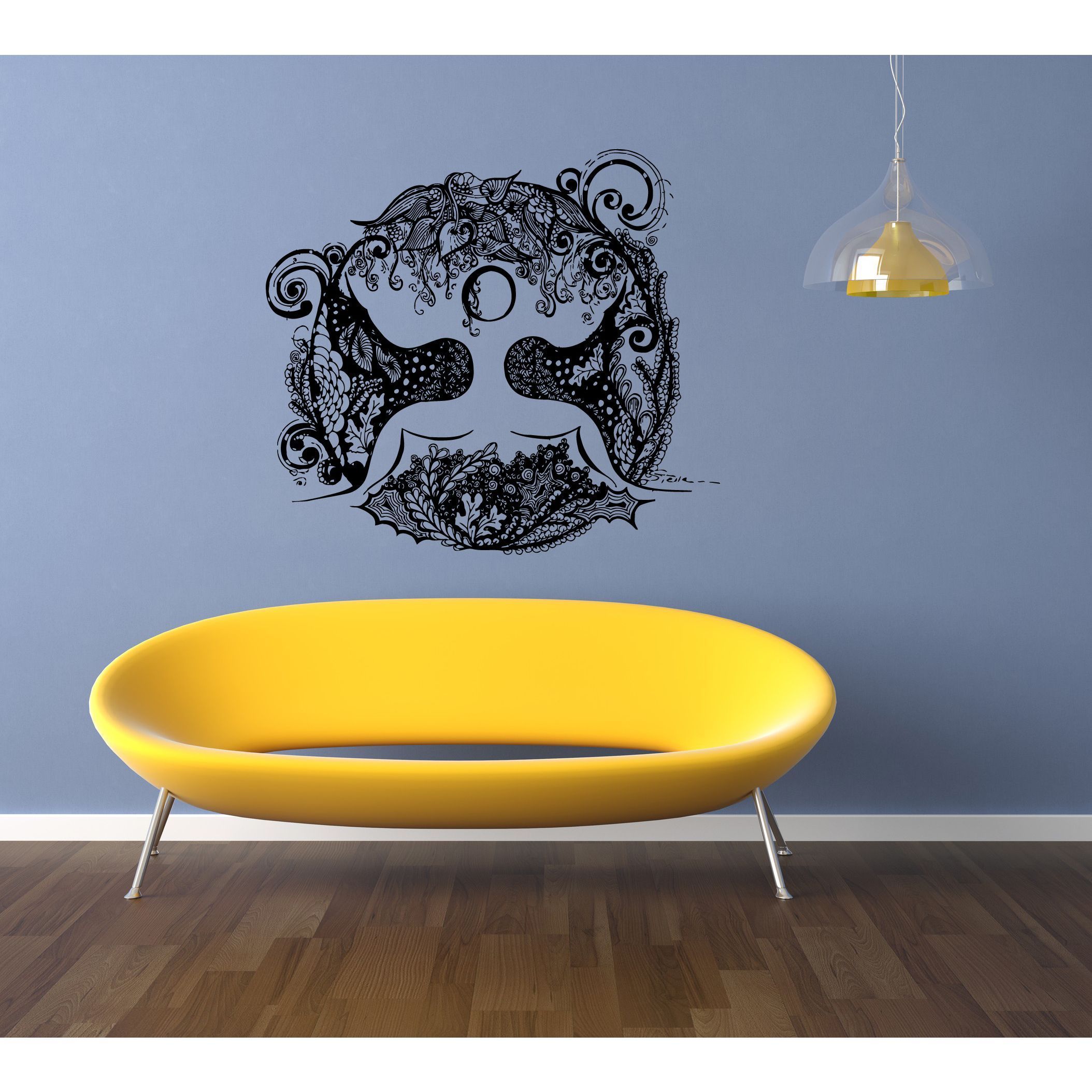 Yoga Lotus Circle of colors Wall Art Sticker Decal | Products ...