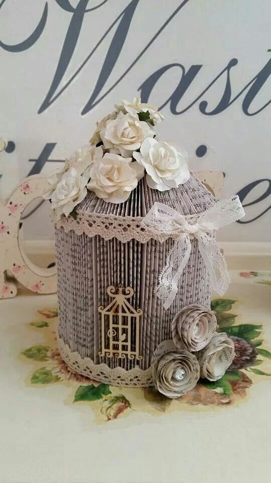 Birdcage Birdcages Pinterest Book Folding Books