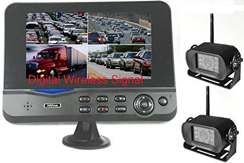 "1Digital Wireless 7/"" HD Monitor Backup Camera Rear View System For Truck RV Bus"