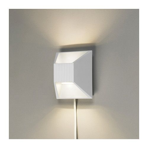 Vikt led wall lamp ikea light directed both upwards and downwards home furnishings kitchens appliances sofas beds mattresses ikea lighting directwall mozeypictures
