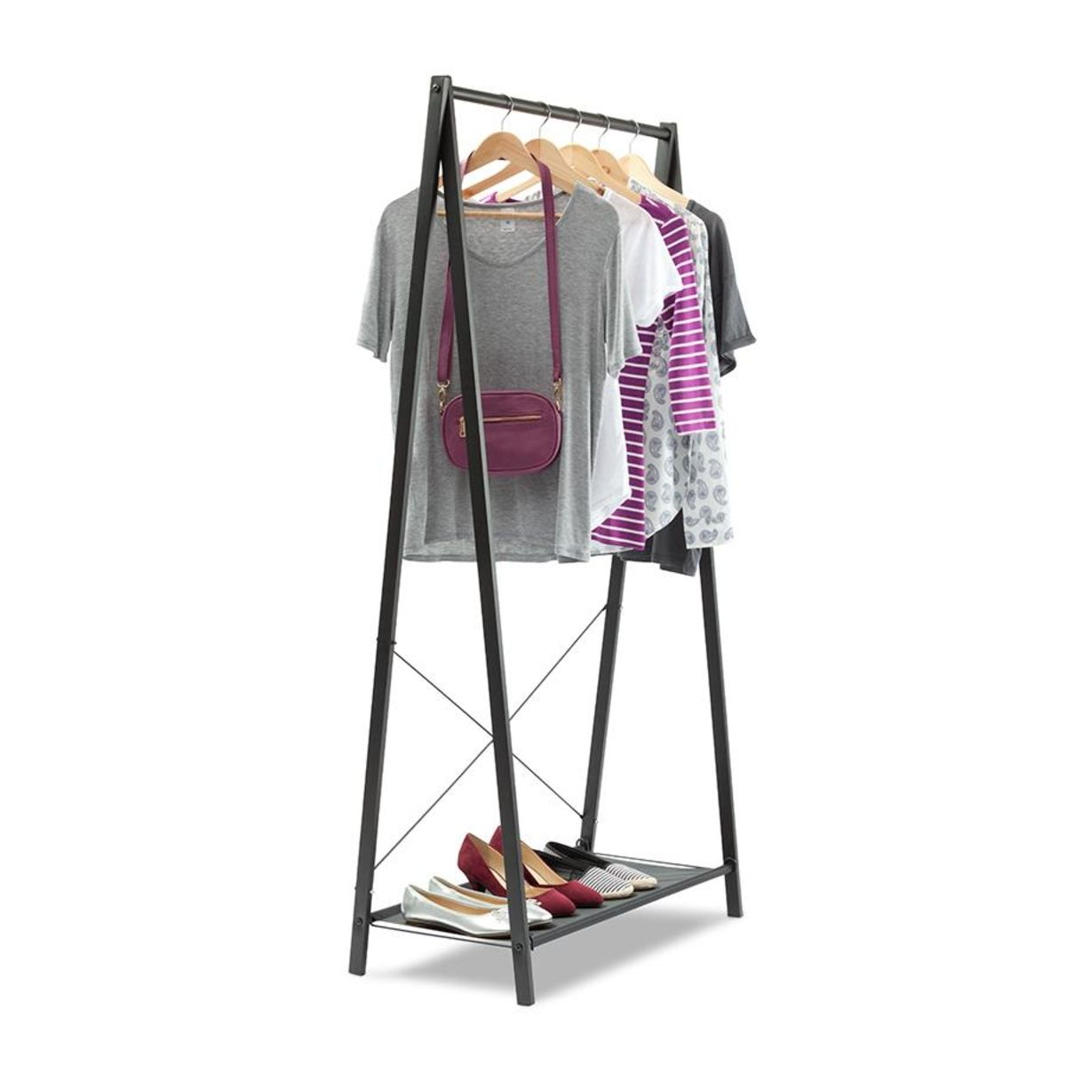 A frame garment rack black garment racks loft spaces and