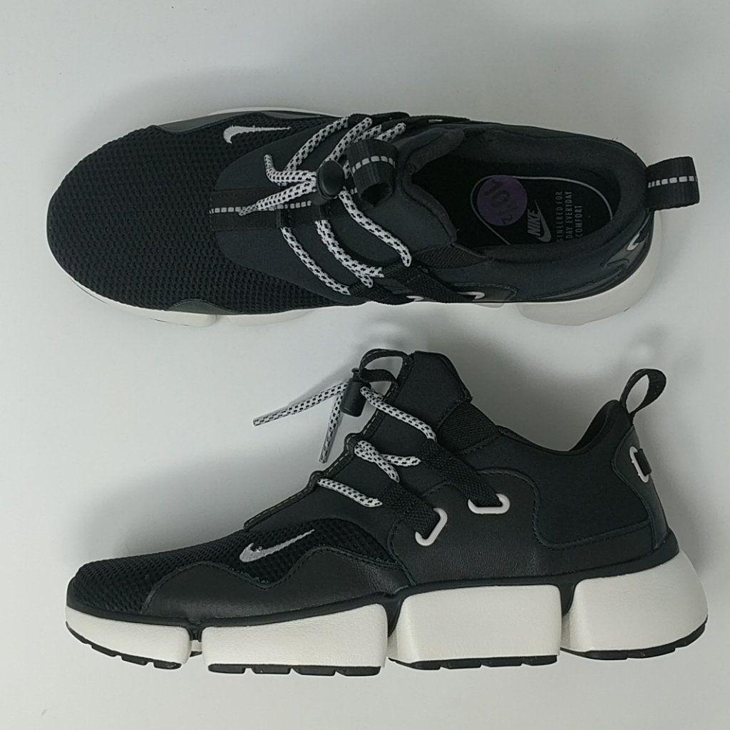 huge discount f8563 4ab3b Nike Pocketknife DM Black Vast Grey Sail White Sneaker Shoes 898033-00 –  LoneSole