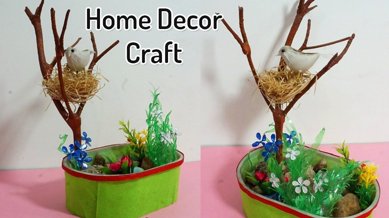 Beautiful Diy Home Decoration From Waste Materials Birds Nest