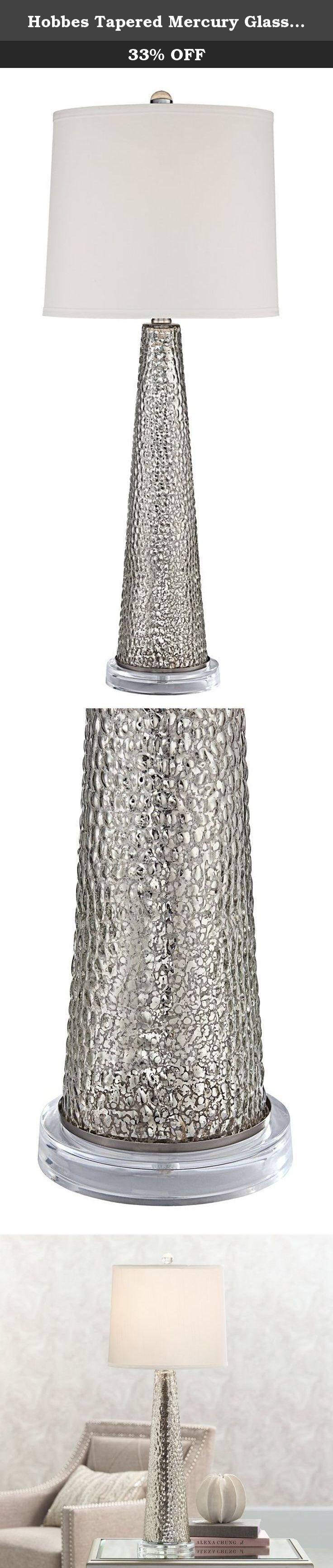 Hobbes tapered mercury glass table lamp freshen up any