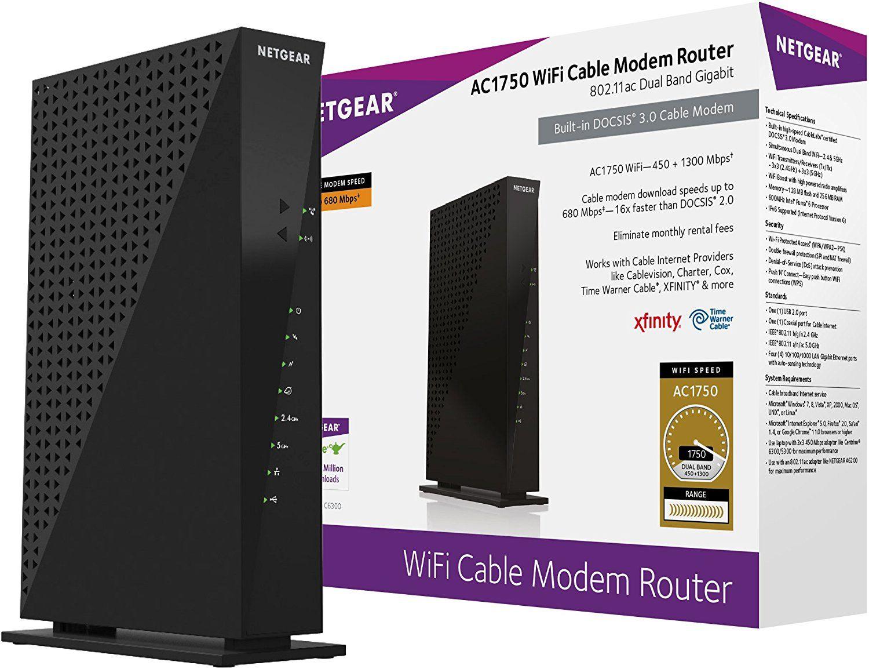 amazon com netgear c6300 100nas ac1750 16x4 docsis 3 0 wifi cable [ 1500 x 1154 Pixel ]