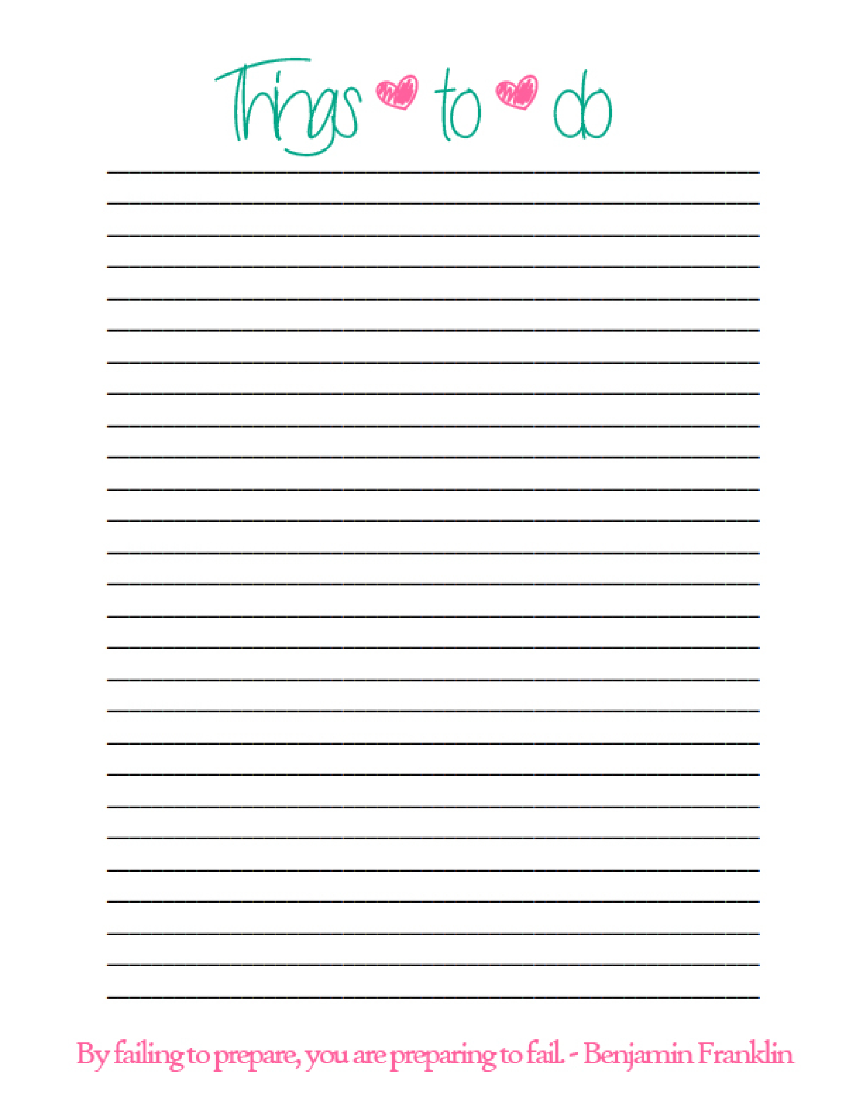 Simple Things To Do List