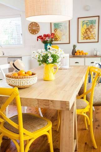 La alegria del amarillo xxx pinterest alegria for Sillas comedor amarillas