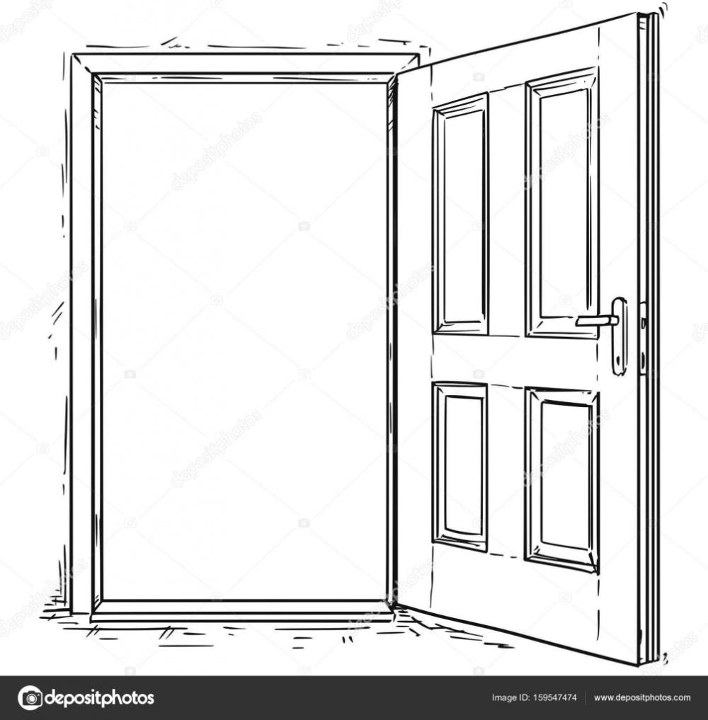 Descargar Vector De Dibujos Animados De Puerta De Madera Abierta Ilustracion De Stock Dibujo De Casa Casa Abierta Arte De Ilustracion
