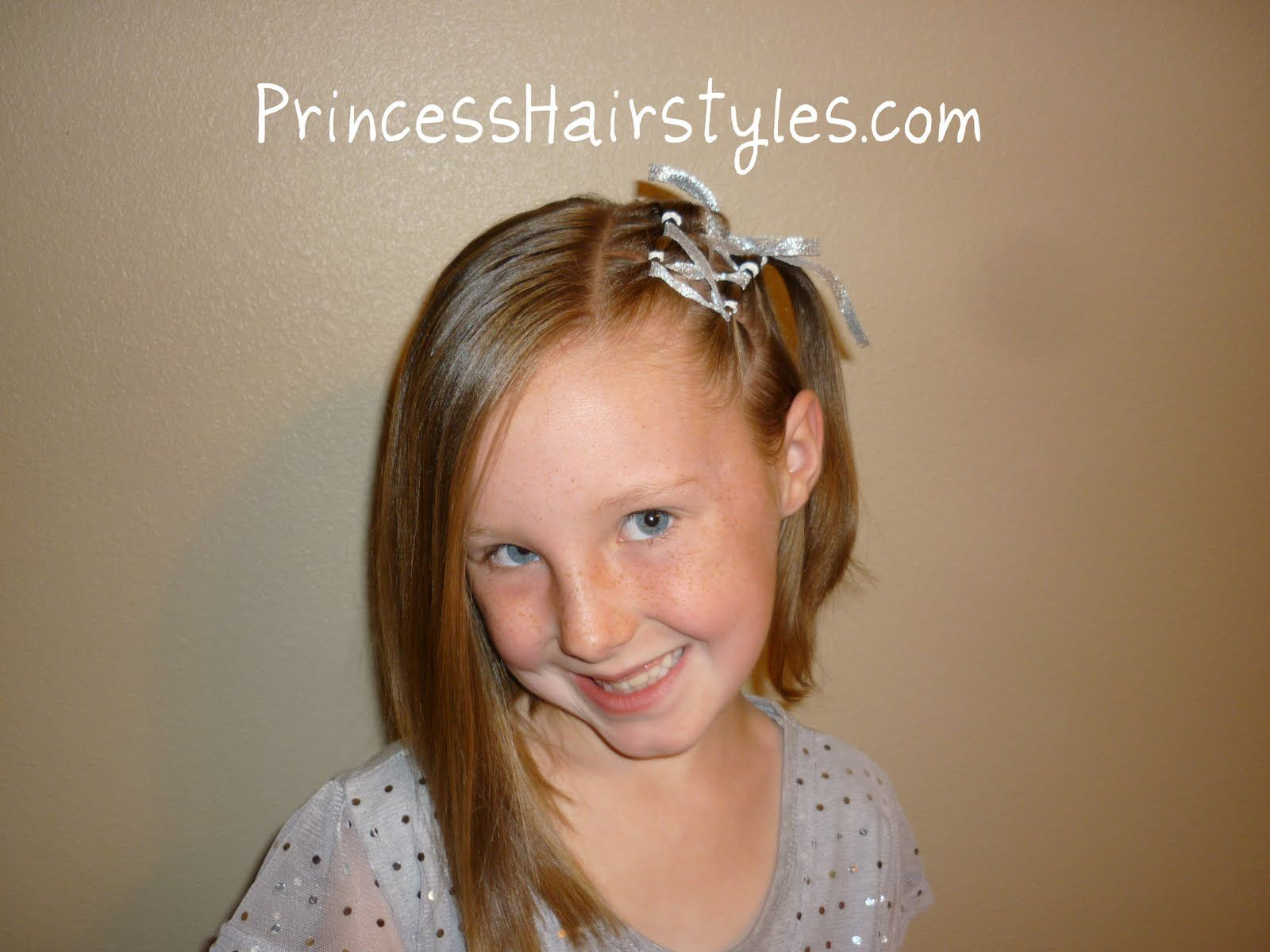 Kids hairstyles for short hair girls - Find This Pin And More On Princess Hairstyles How To Hairstyles For Girls Ribbon Lacing For Short Hair