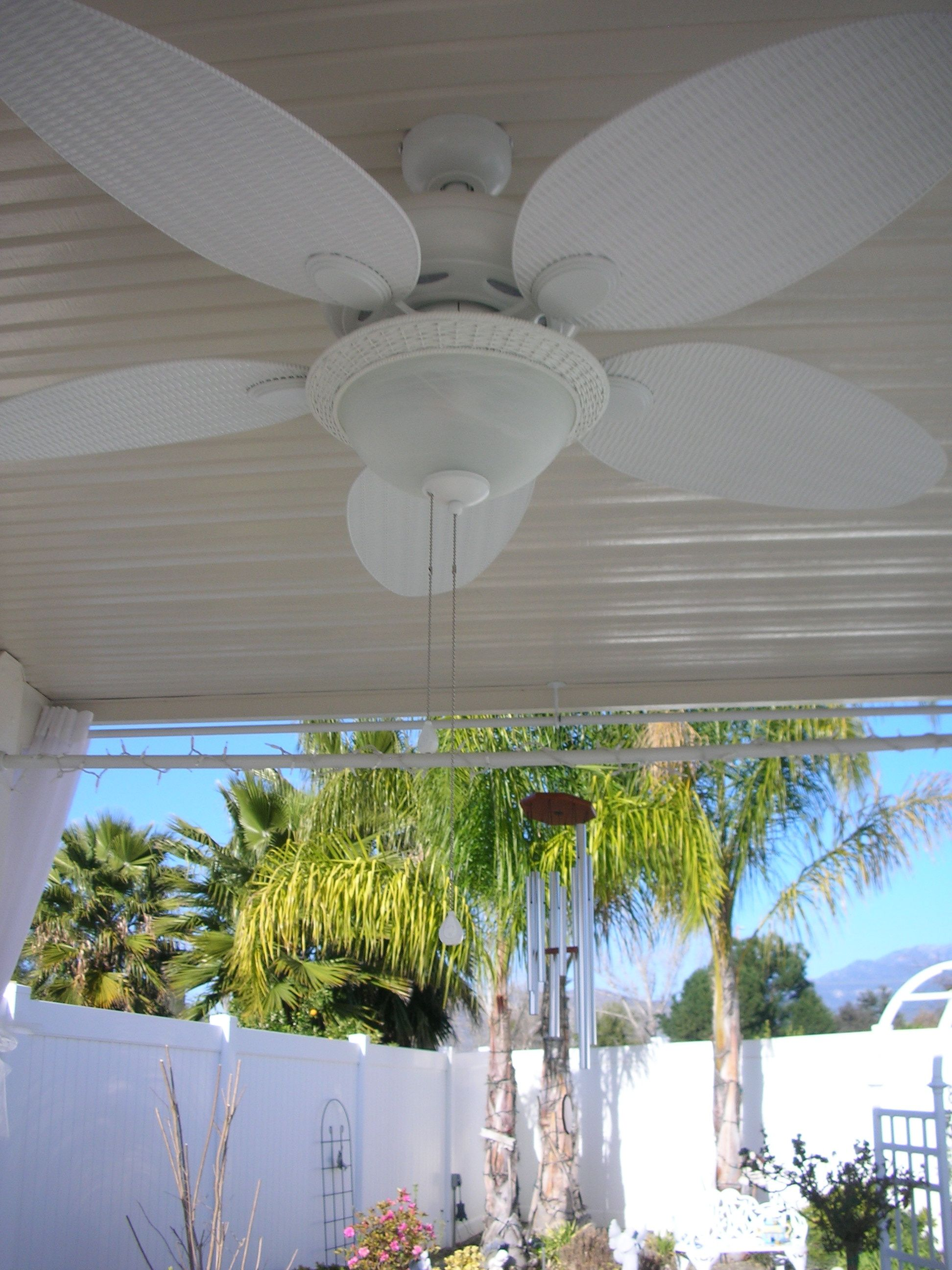 Shabby Chic ceiling fan in the Lanai For the Home