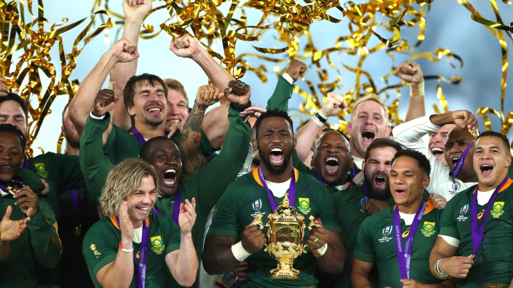 South Africa Beat England To Lift Rugby World Cup South Africa Rugby Rugby World Cup Rugby Nations