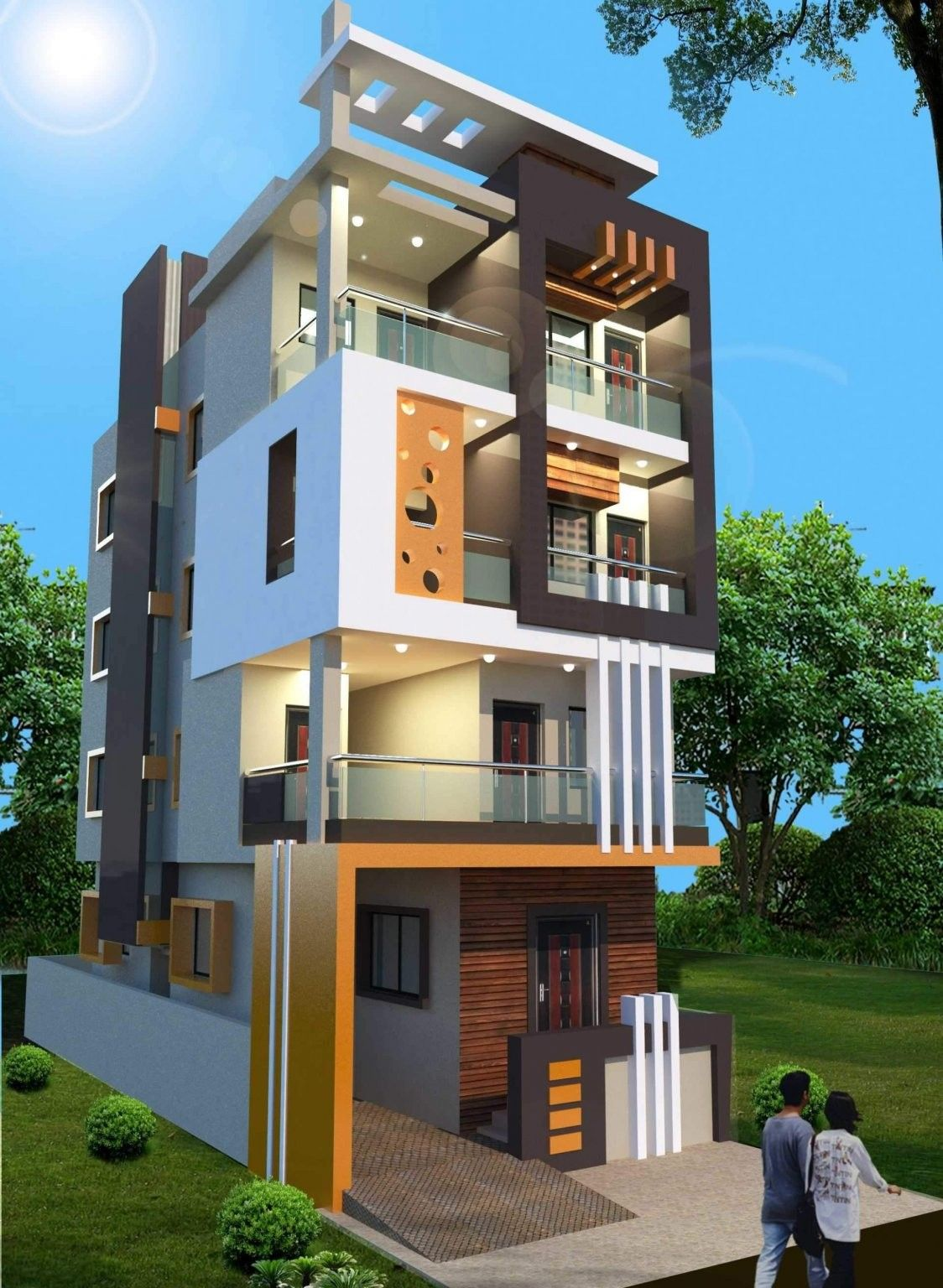 Small House Elevation Design Small House Design Exterior Narrow: Small House Elevation Design, Duplex House Design