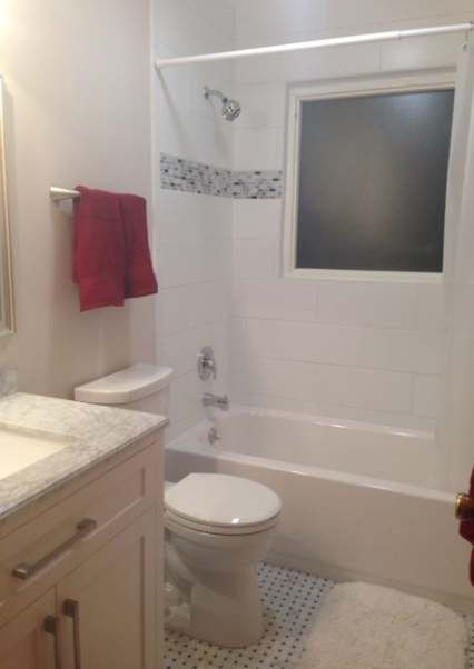 31 ideas bath room grey red subway tiles  red subway tile