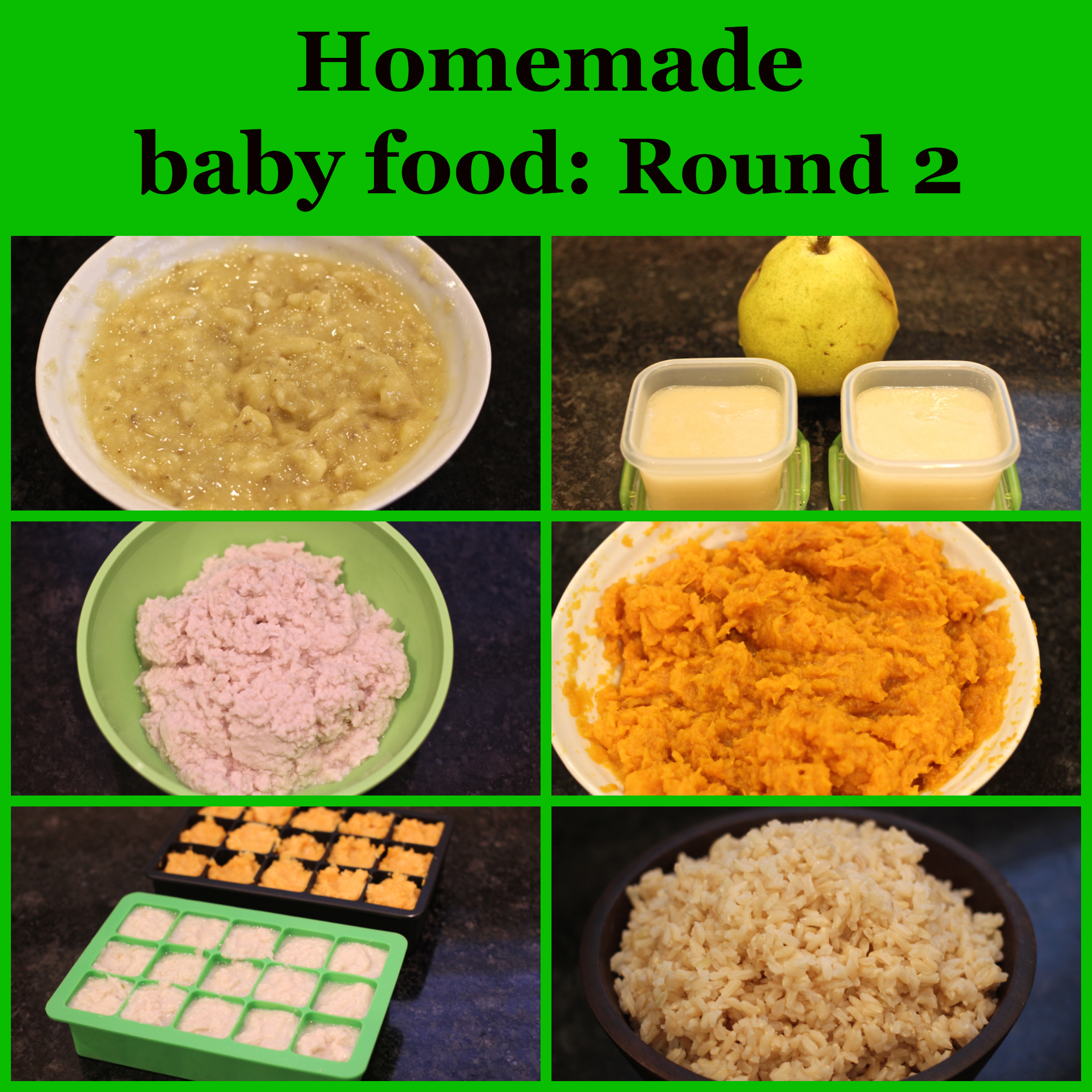 Homemade baby food great tips and info to maximize baby food homemade baby food sweet potatoes brown rice chicken pears and banana family food on the table forumfinder Gallery