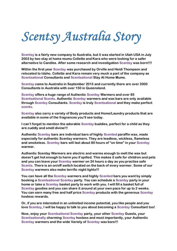 Scentsy Australia Story Game Home Scentsy Party Such A